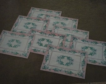 Cloth Placemats - Set of 8 Made in India