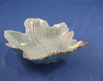 California Pottery Leaf Dish