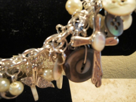 The MOP Mother of Pearl Buttons and Baubles Bracelet