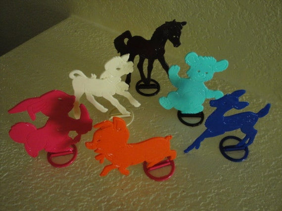 Set of 6 Stencil Toys - RESERVED for Peonybell