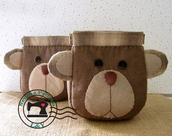 Little Bear Flexible Frame Coin Purse PDF Sewing Pattern