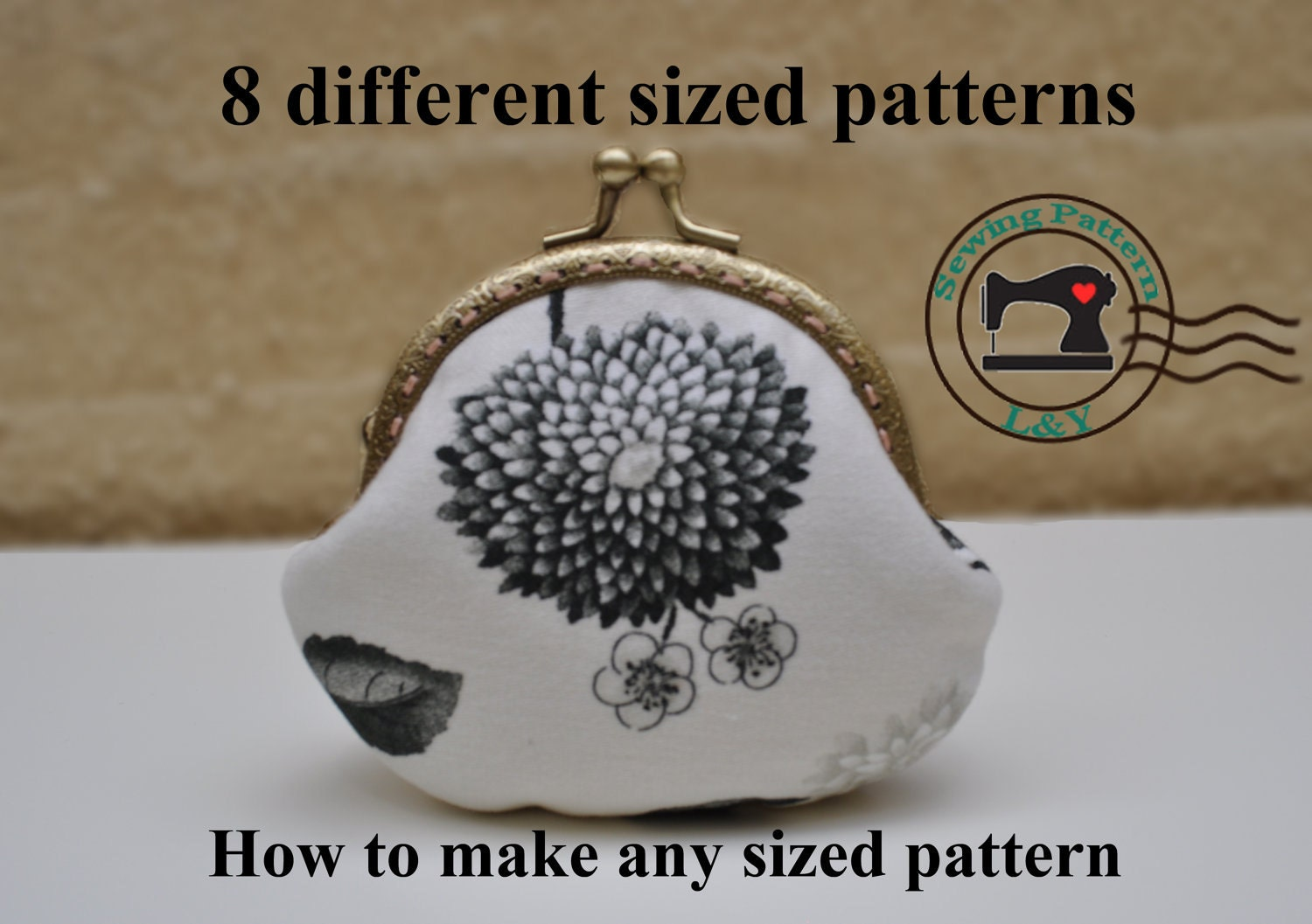 2 Pieces Frame Purse Pdf Sewing Pattern By Lypatterns On Etsy