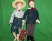 Two Effanbee Dolls from Great Moments In Literature Tom Sawyer and Huck Finn