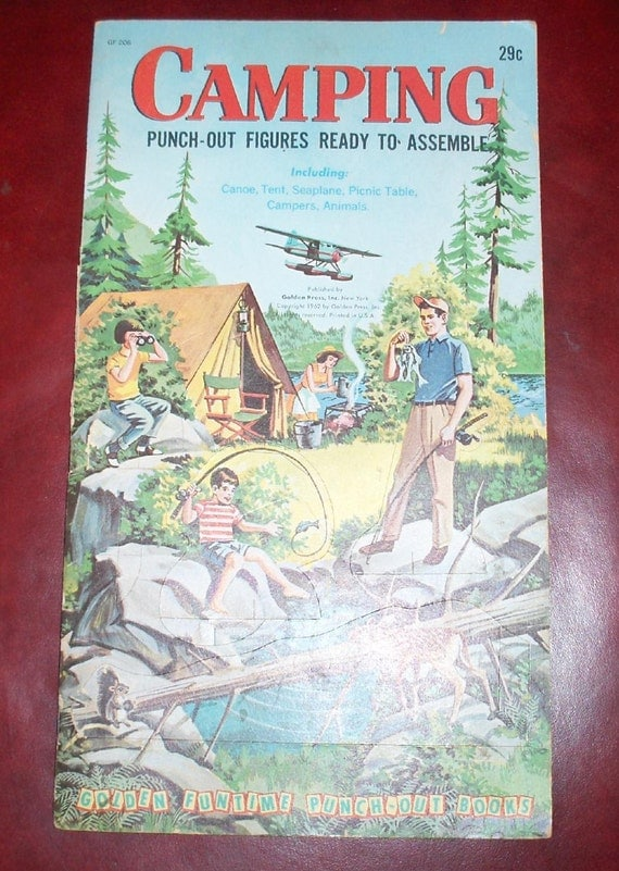 Reserved for Ralph Vintage Punch Out Camping Book
