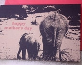 Happy Mother's Day Elephants note card