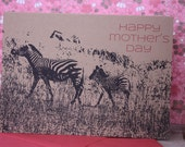 Happy Mother's Day Zebras note card