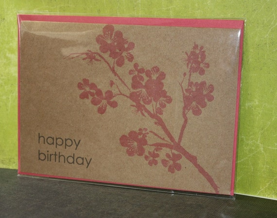 Happy Birthday Blossoms note card