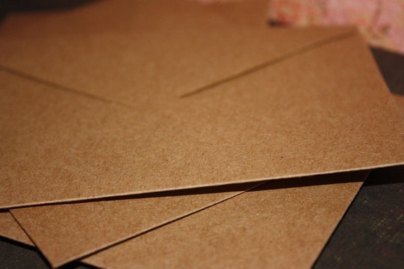 Kraft Envelopes, set of 25, 4x5.75