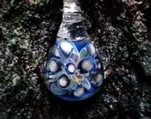 Striking abstract blown glass pendant necklace