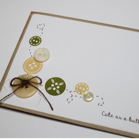 items similar to cute as a button baby shower invitations green and