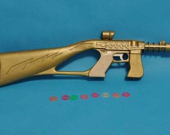 RARE RARE RARE Star Trek Jet Disc Tracer-Scope Toy Rifle - Vintage 1970's, Gold Color