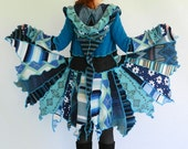 dRuNkiN sOnGbiRd -Small - Medium - Short Faerie elf  pixy coat - Made with recycled sweaters