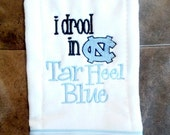 North Carolina Tar Heels UNC Baby Burp Cloth
