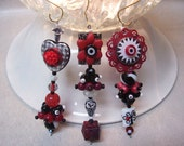 Red and Black Series Dangles - 3pc