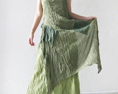 Two in one...double green cotton dress