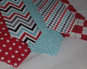 Love Red Love Teal  size: ( 2t - 4t ) newborn toddler necktie collection  U choose style by Bubba Mae