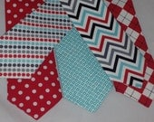Love Red Love Teal size: ( 7 years - 10 years ) newborn toddler necktie collection  U choose style by Bubba Mae