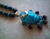 Turquoise and Silver Head Necklace