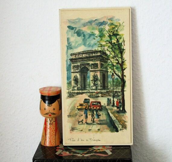 Mid century modern paris wall decor arno by gogoberlinette - Mid century modern wall decor ...