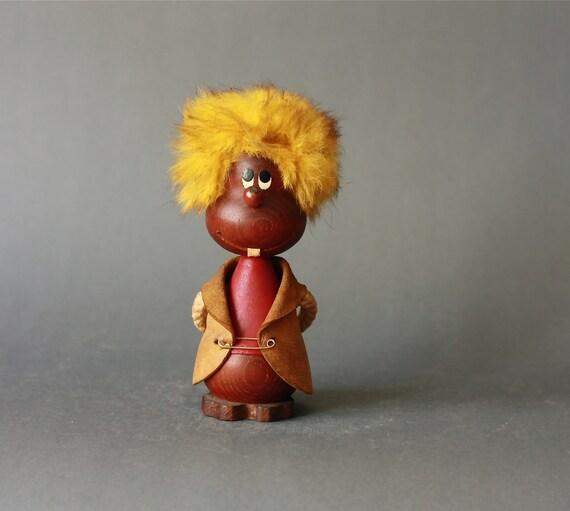Vintage Danish Modern Teak Figurine