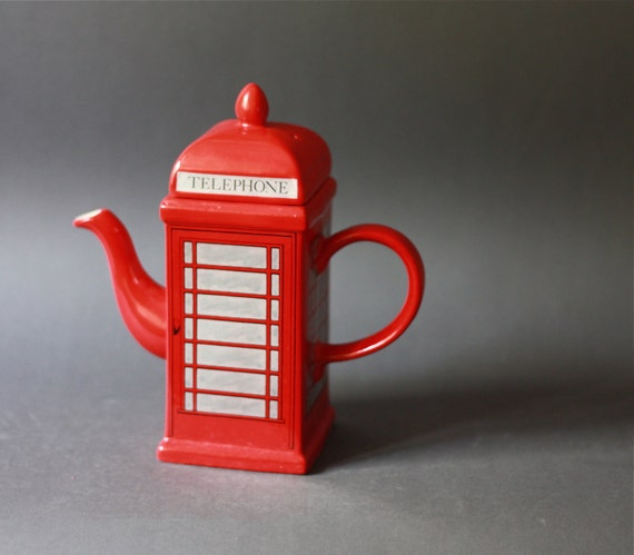 Vintage Price Kensington Old Style Telephone Box Porcelain Teapot