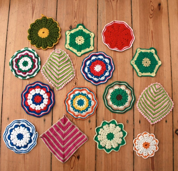 Vintage Collection of Handmade Crocheted Pot Holders