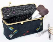 Dragonfly Cosmetic Bag (Pencil Case, Cosmetic Case, Makeup Pouch, Travel Bag)