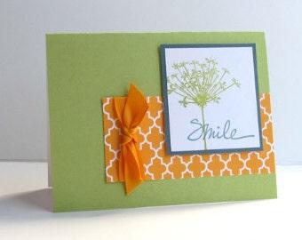 smile botanical blank note card