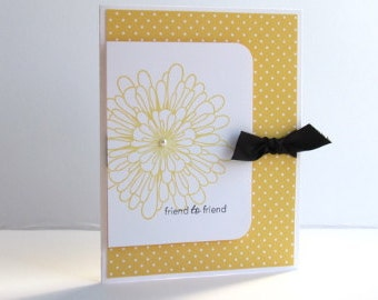 friend to friend marigold blank note card