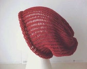Knit Slouch Hat in Spice Adult by Peace Stitch Studio