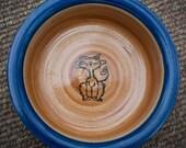 Impressionist Cat in Tan & Blue (Medium)