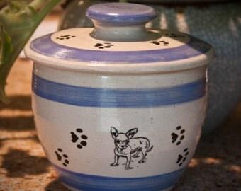 Chihuahua (Cute)Treat Jar - Cornflower Blue (Small)
