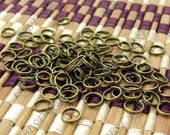 200pcs  of Antique  Brass Plated Double Jumpring 7mm