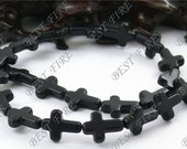 12x16mm Dyed Black Cross Turquoise beads Loose Strand,Gemstone beads,Loose beads full strands 15.5 inch