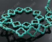 20mm Turquoise hollow out flower loose beads full 12 strands