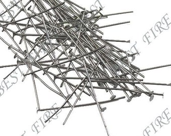 200 pcs of  Gunmetal plated black brass head pin 30mm