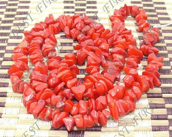 8x10mm Nugget  Red  coral loose beads long strand