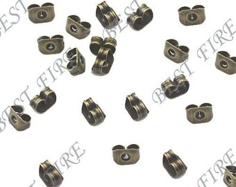 50pcs of Antique Bronze Brass Earring STUDS BACK STOPPERS 3x5mm