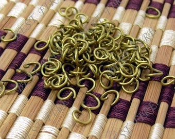 500pcs  of  Antique  Brass Plated Open Jumpring 6mm