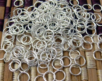 200pcs of Silver Tone  Open Jump ring 6mm