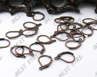 20 pcs of Antiqued copper brass leverback earwire 12X16mm