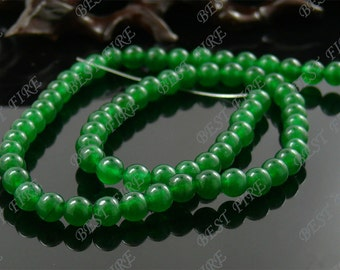 6mm Green Jade  Round beads Gemstone,Jade loose beads,round Malay Jade bead loose strand 15.5 IN