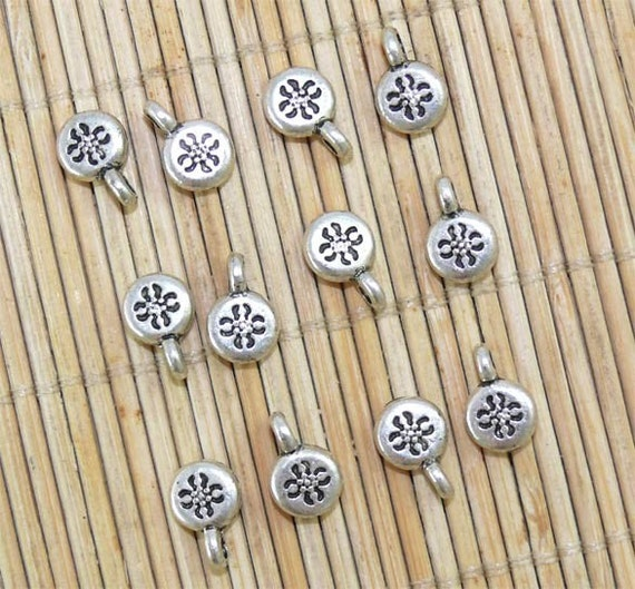20pcs of Tibetan silver finished round drops 8x12mm