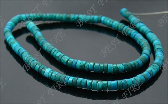 3x5mm Haixi dark blue Turquoise loose beads full strands