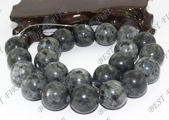 18mm of  Black Round blank gemstone beads loose strands