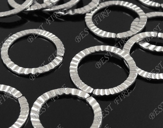 50 pcs of  platinum tone open round jumprings ,streak metal bead,loose round rings beads,finding 21mm
