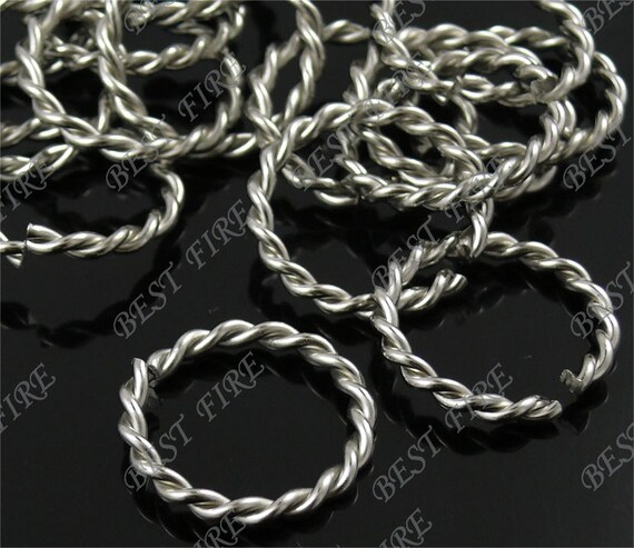 50 pcs of platinum tone fancy jumpring ,metal bead,loose open round rings beads,finding 20mm