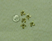 THE Cutest Antique Gold Holly Berry Charms Lot of 10
