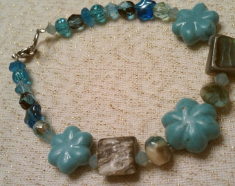 Turquoise Color with Abalone Bracelet