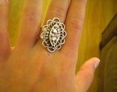 Vintage Marcasite Cocktail Ring